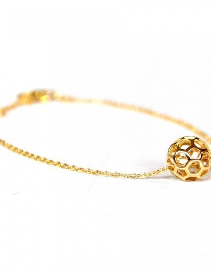 Honeycomb ball bracelet by Strange of London