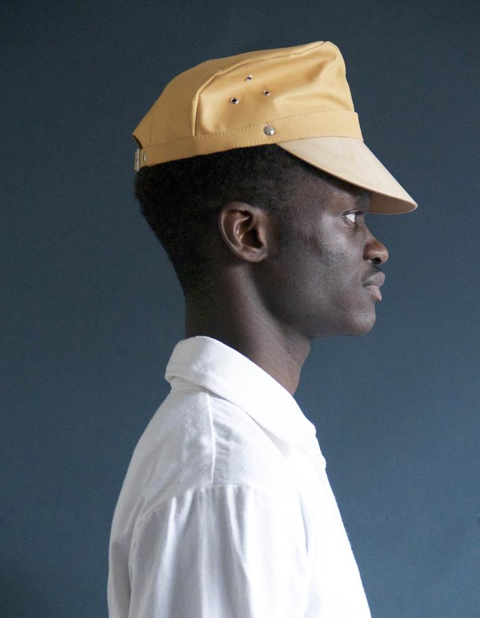 Leather & Wood Veneer peak cap