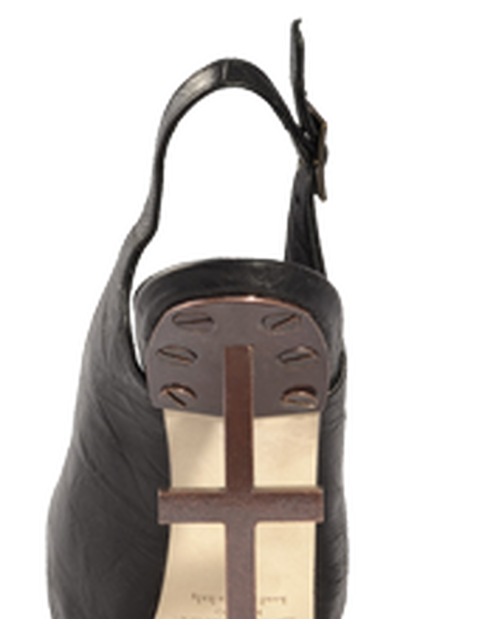 Leather Crux with rusted heel - back