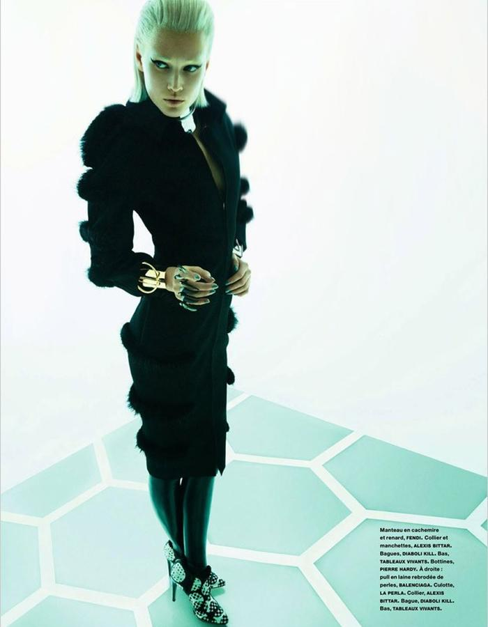 Toni Garrn in Numero Magazine 159 wearing Diaboli Kill Damian Rings -2