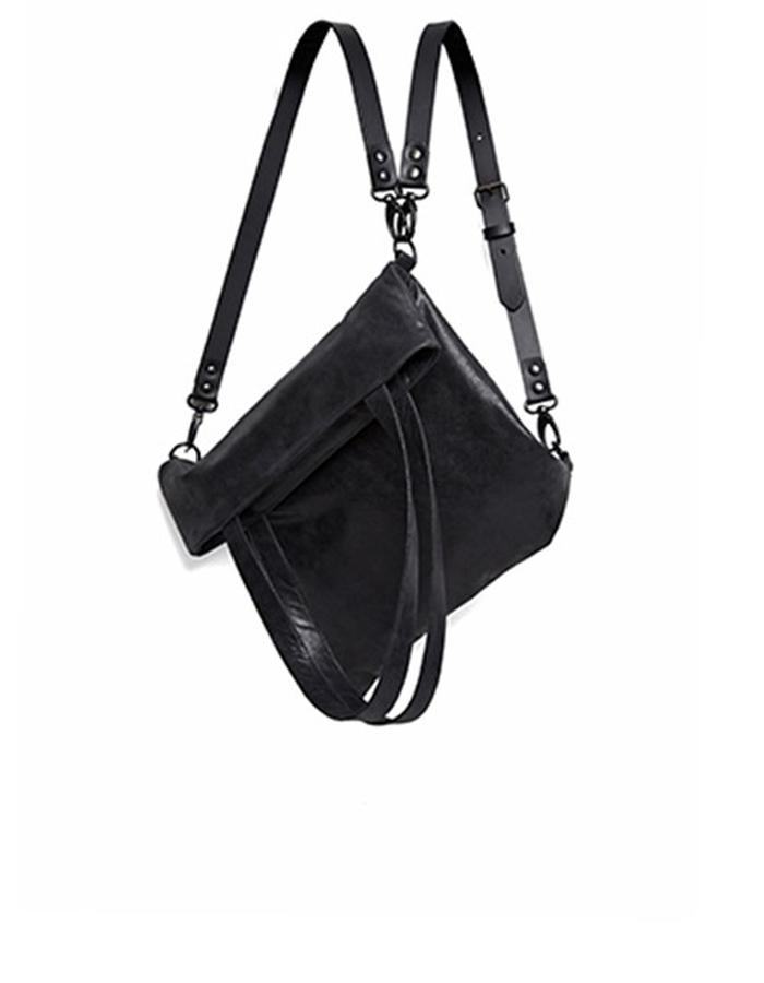 Wilton Small Black Leather Convertible Bag