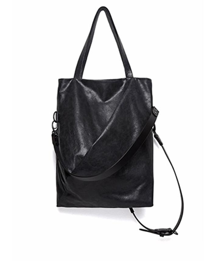 Warrington Small Black Leather Convertible Bag