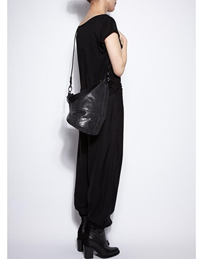 Wesley Black Leather Shoulderbag