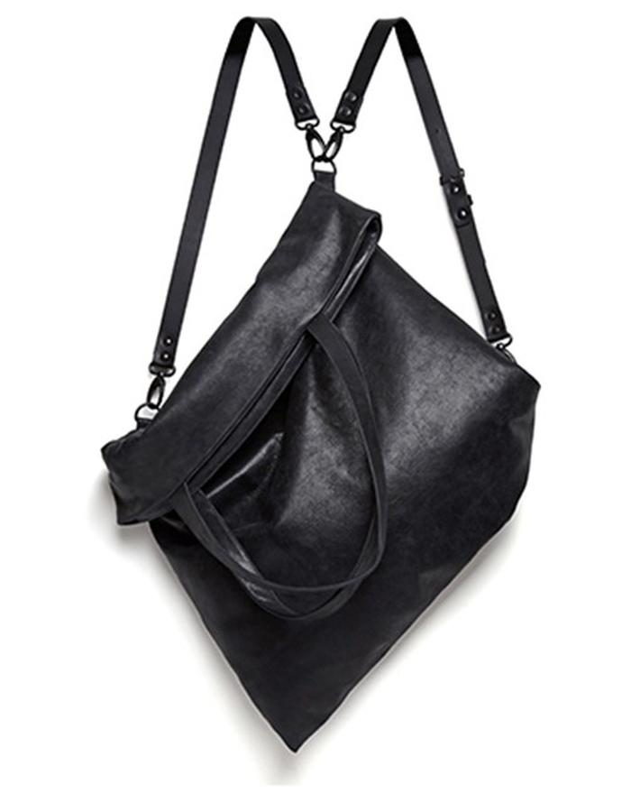 Wilton Large Black Leather Convertible Bag