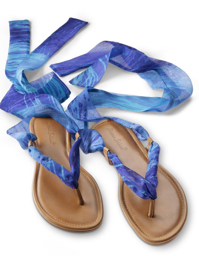 Silk Wrap Sandal- CAPRI