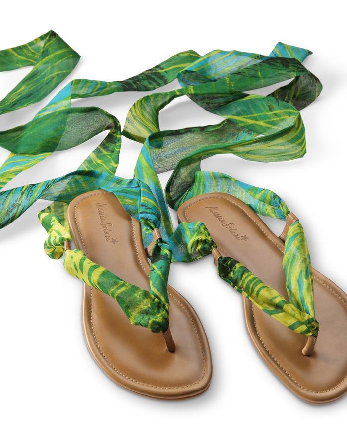 Silk Wrap Sandal- BAHIA