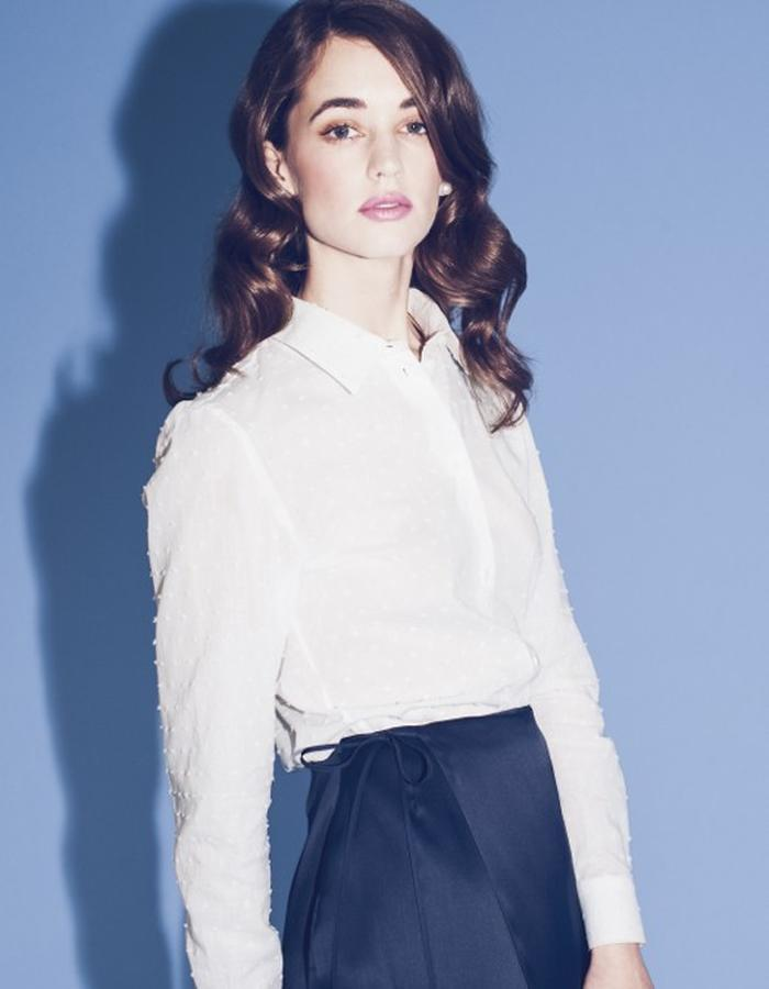 Lilly Ingenhoven SS15 cotton blouse silk skirt