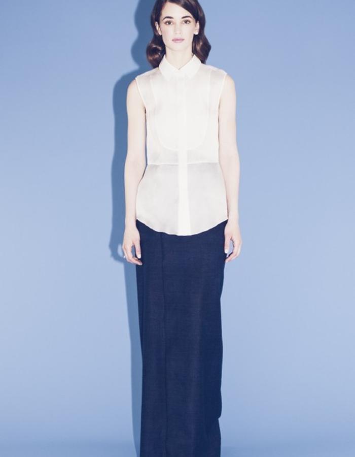 Lilly Ingenhoven SS15 silk blouse silk skirt