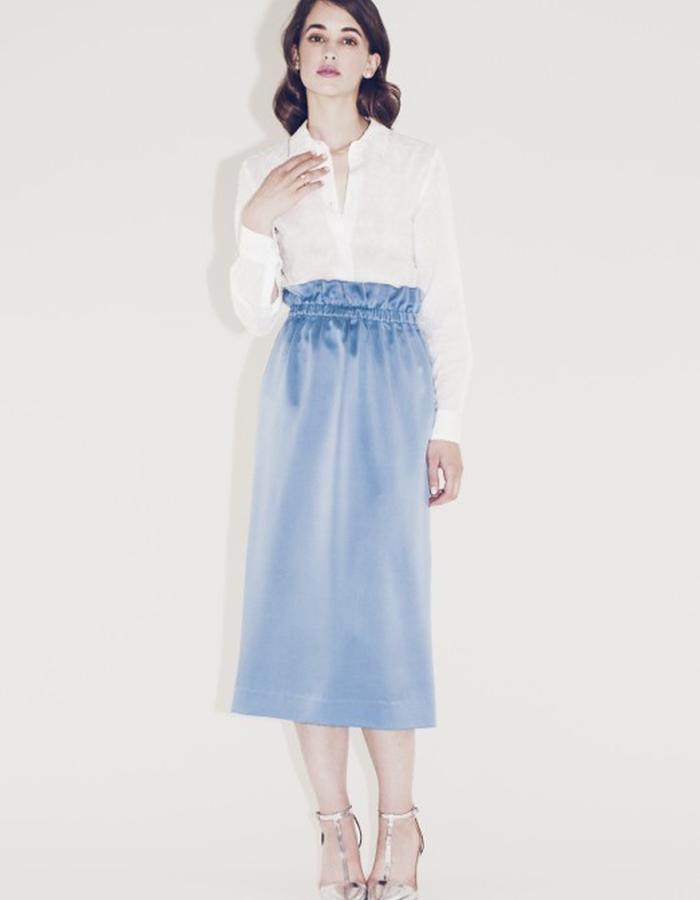 Lilly Ingenhoven SS15 silk skirt and cotton blouse