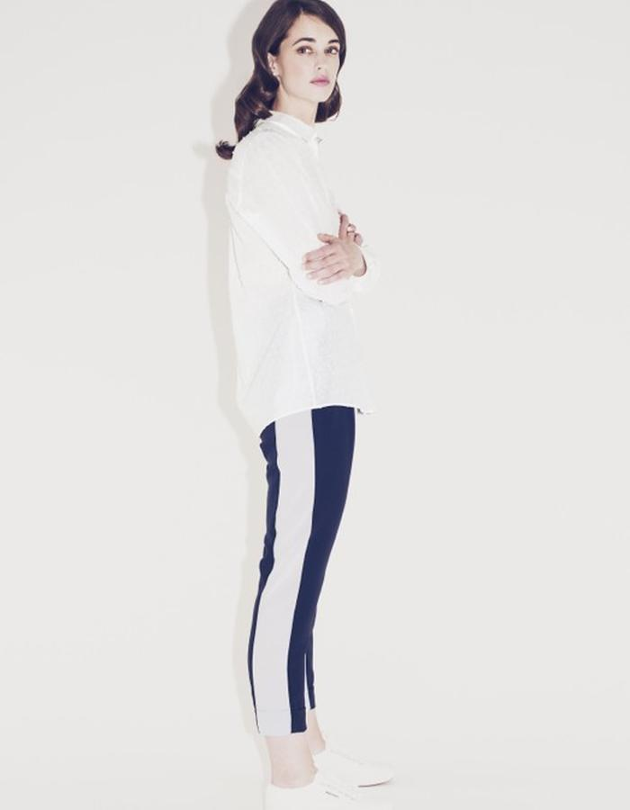 Lilly Ingenhoven SS15 silk pants and cotton blouse