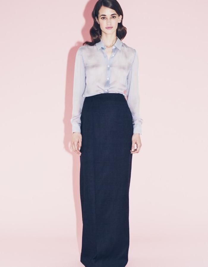 Lilly Ingenhoven SS15 silk skirt silk blouse