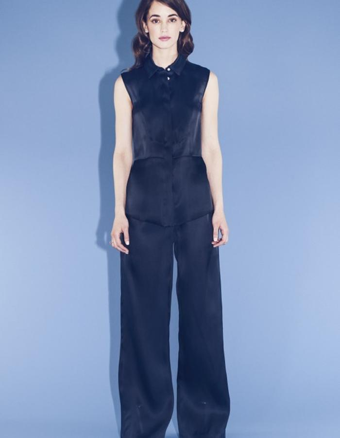 Lilly Ingenhoven SS15 silk blouse silk pants
