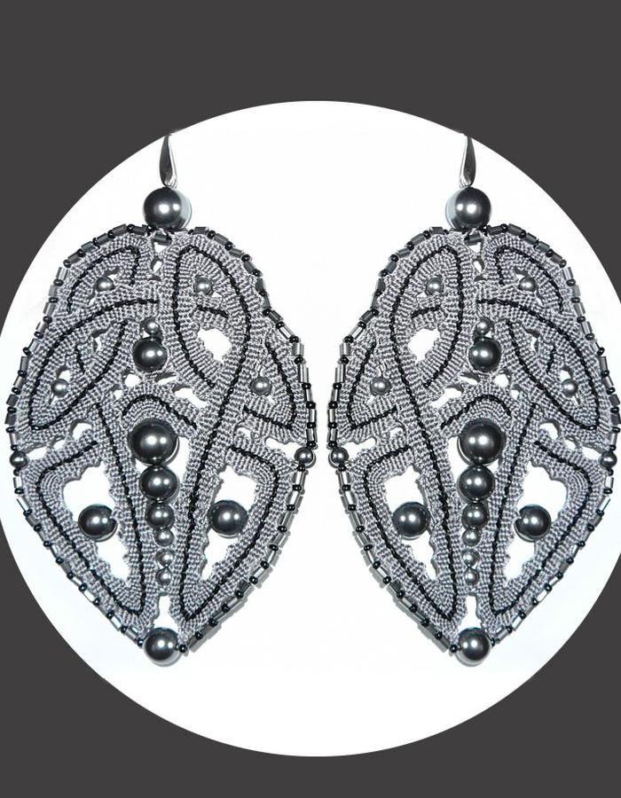 Bobbin lace earrings
