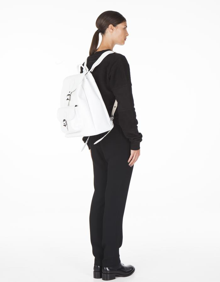 ONAR STOTT back pack - white nappa leather