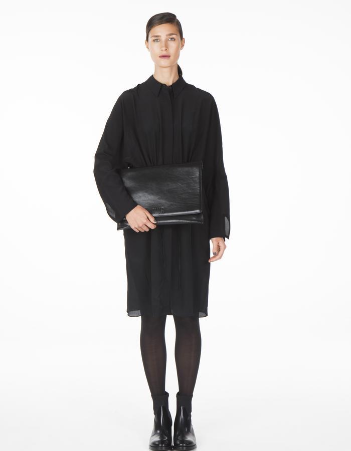 ONAR ELIF clutch - black nappa leather