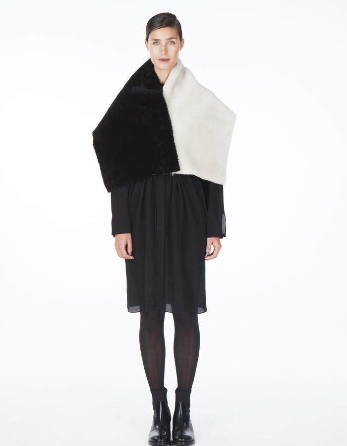 ONAR MANDRA - black/white merino shearling