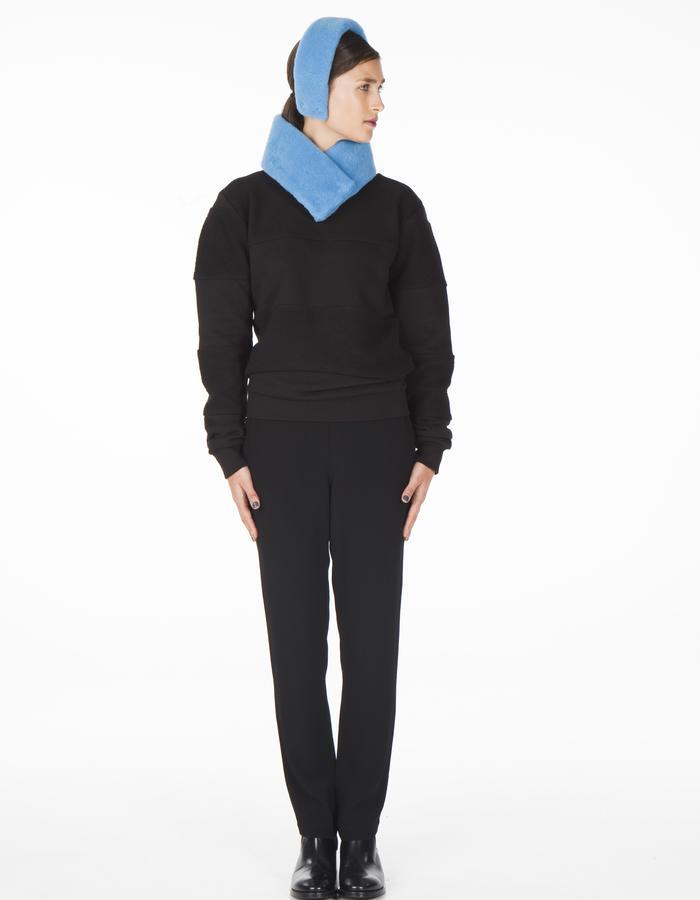 ONAR CLEO earmuff + OFRA collar - airblue merino lamb shearling