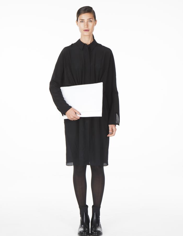 ONAR ELIF clutch - white nappa leather