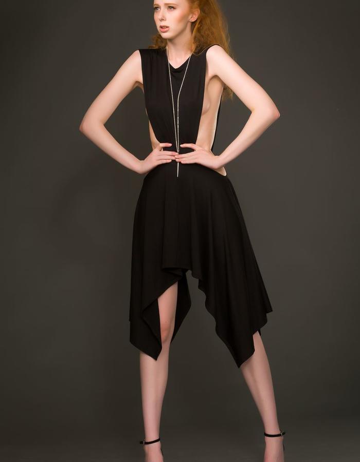 Urban tribal dark fashion asymmetric gothic edgy