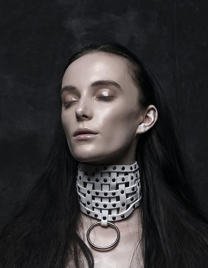 woven choker by Melissa Tofton Leather