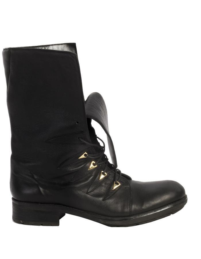 Calfskin Revolt biker boots