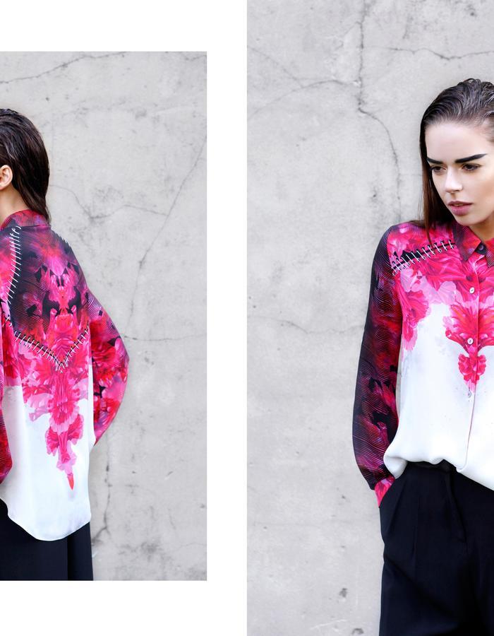 Sanna Naapuri Pre A/W 2015 Look 2: Flora Shirt