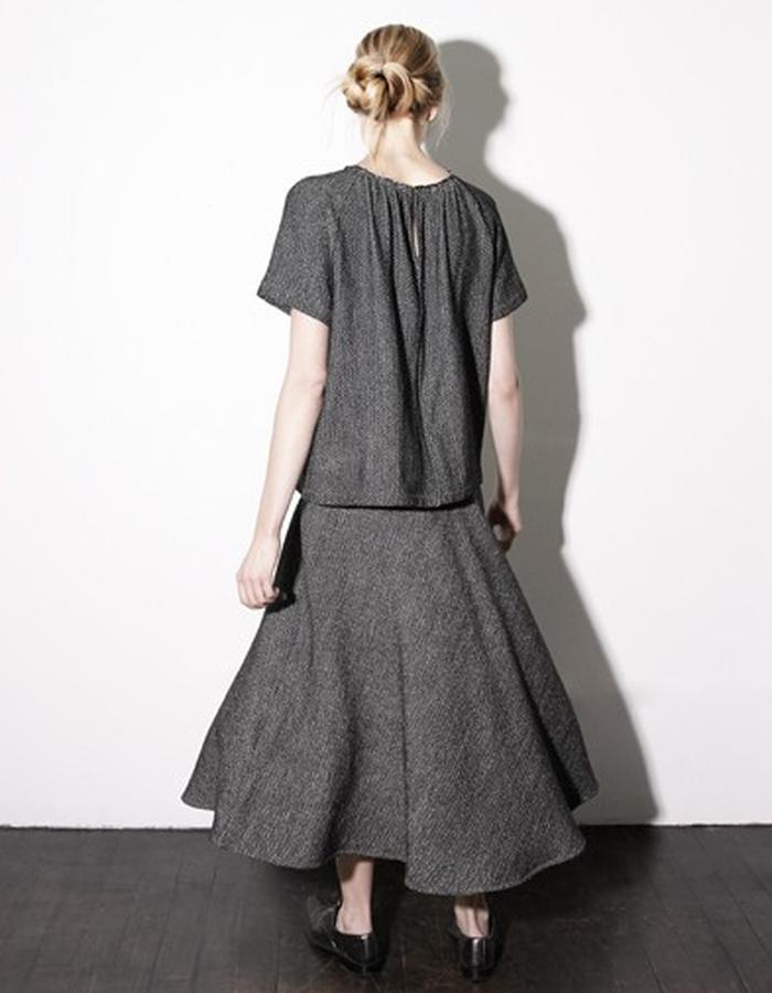 Herringbone Raglan Top and Sun Skirt style # 0206 and 0404
