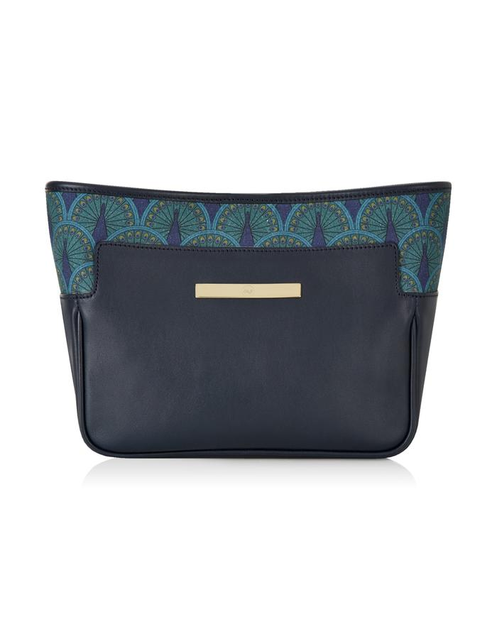 Catherine Clutch in Midnight Blue Peacock