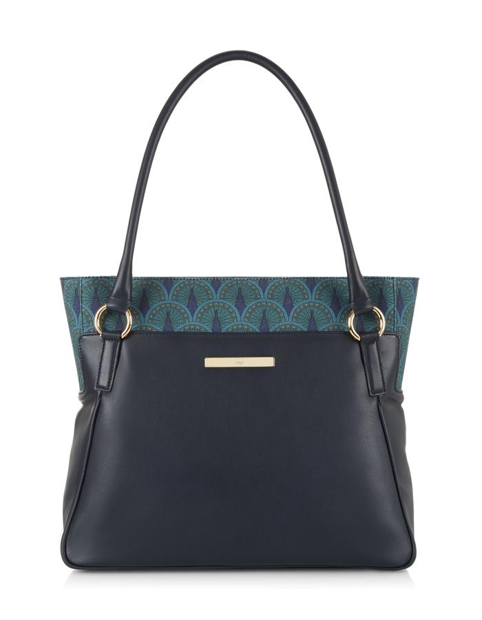 Catherine Shopper in Midnight Blue Peacock
