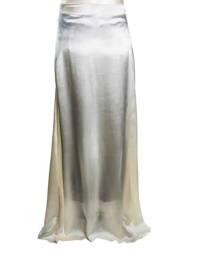 Beige open skirt