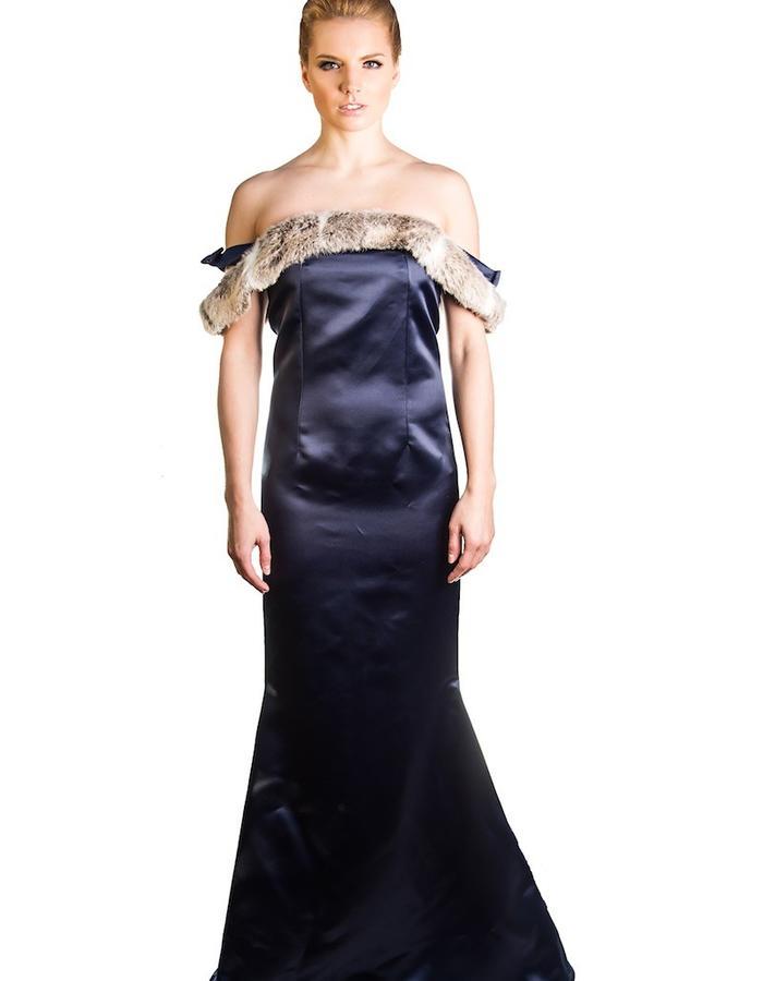 Duchess satin gown