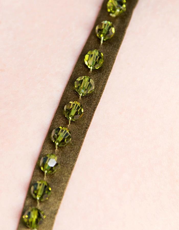 Flared mini dress (Swarovski crystal strap)