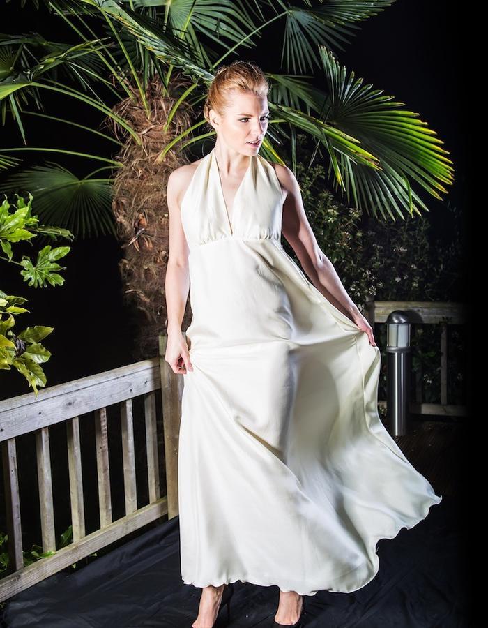 Elegant silk satin gown