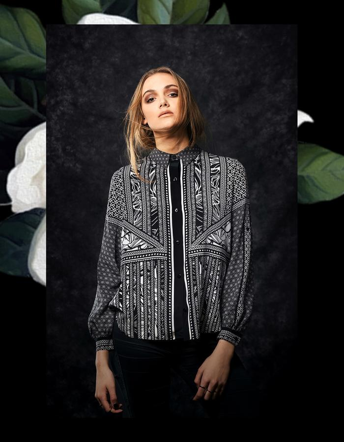 Sanna Naapuri Autumn/Winter 2015 Look 2: Mai Shirt / Tribe print