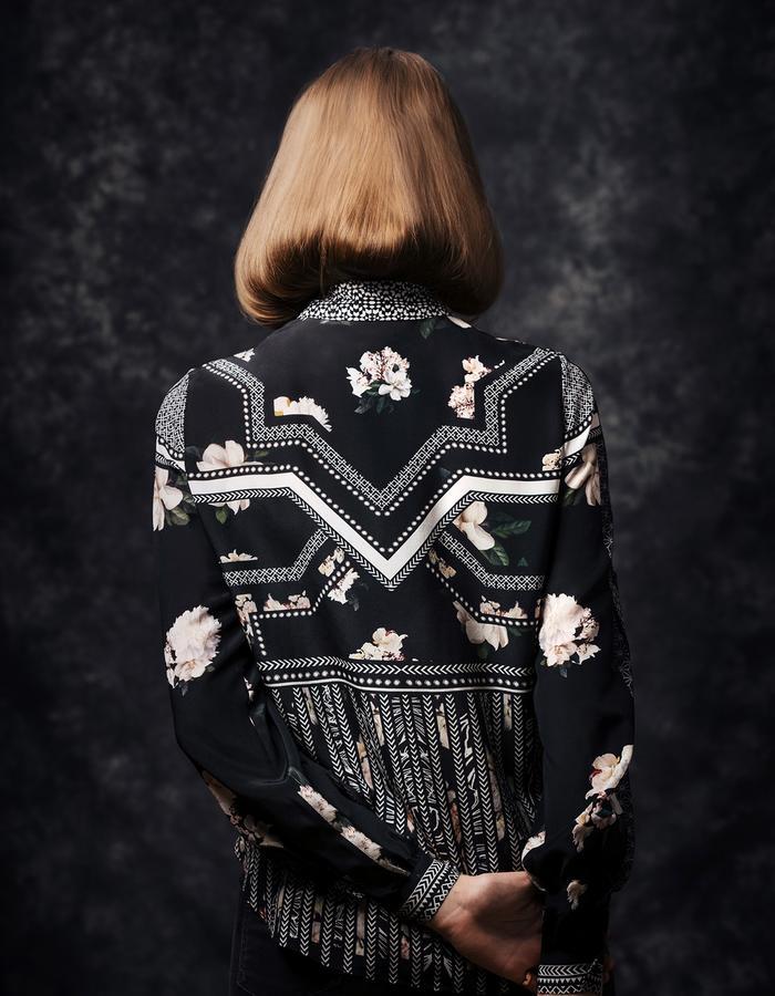 Sanna Naapuri Autumn/Winter 2015 Look 3 Detail: Mai Shirt / Samurai print