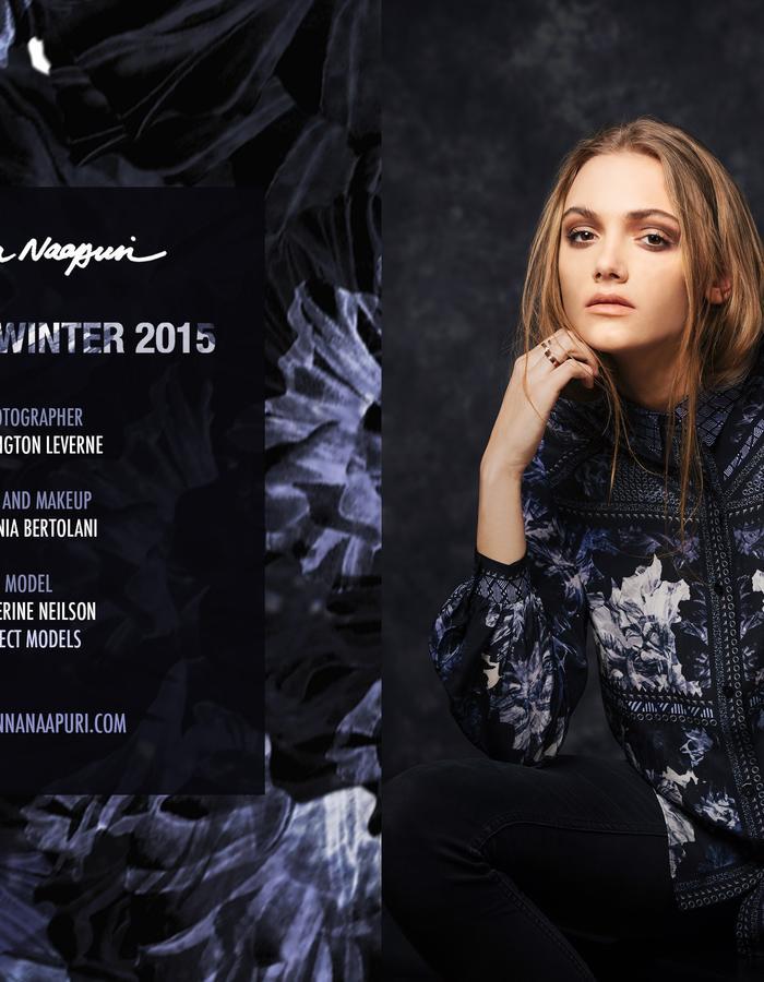 Sanna Naapuri Autumn/Winter 2015 Look 1: Mai Shirt / Romany print