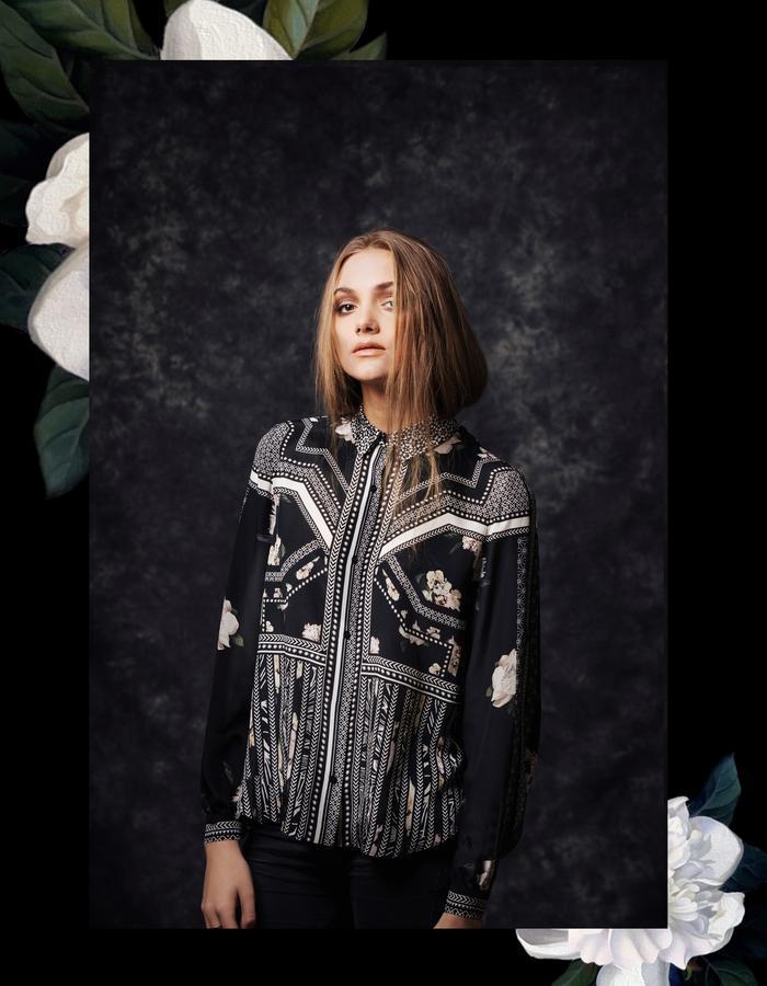 Sanna Naapuri Autumn/Winter 2015 Look 8: Mai Shirt / Samurai print