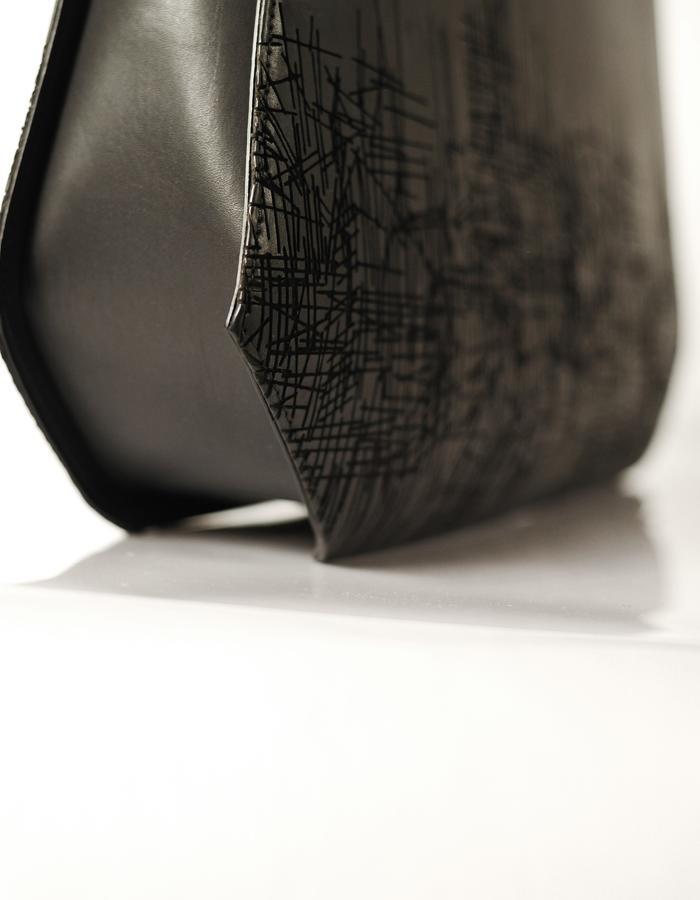 Leather Bag - Laser engraved - motif UnderC