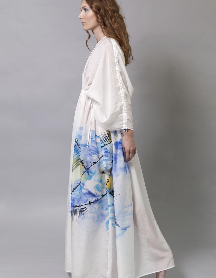 Hand Painted Cotton Silk Morph Dress