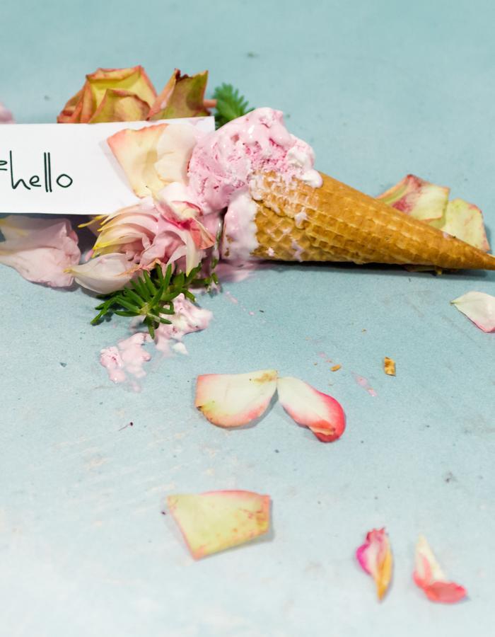 #ISCREAM / 1 #hello rose icecream cone / Flore Diana