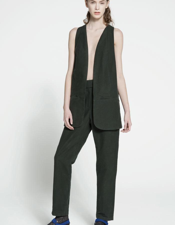 rubbered cotton and silk vest, rubbered cotton and silk trousers