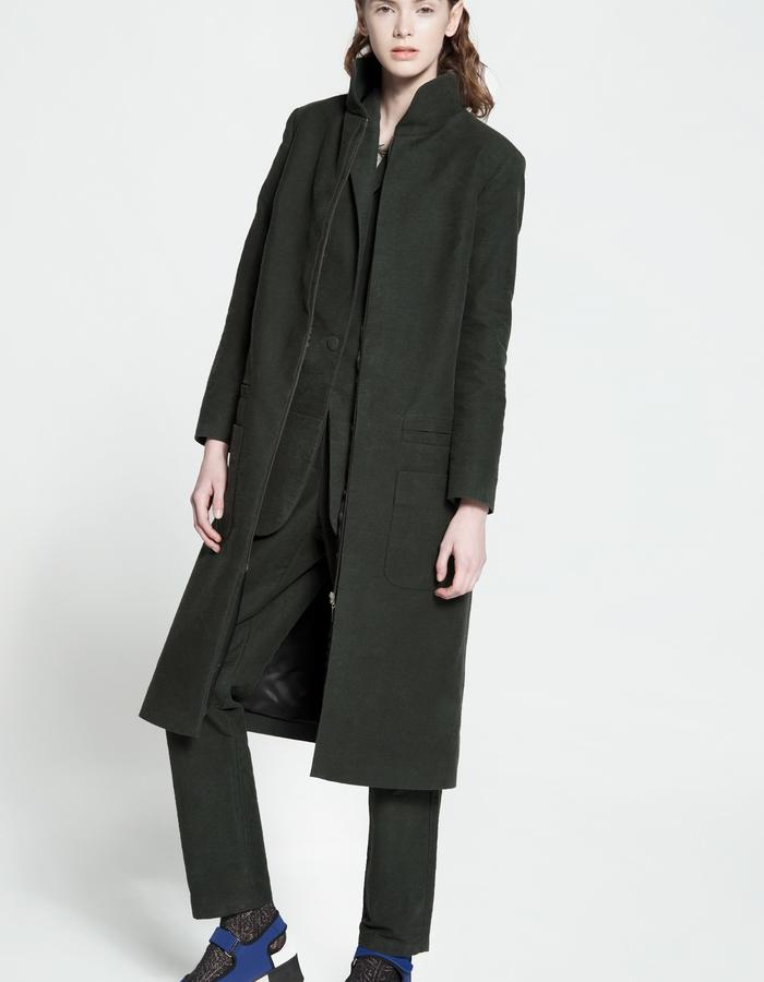 rubbered cotton and silk coat