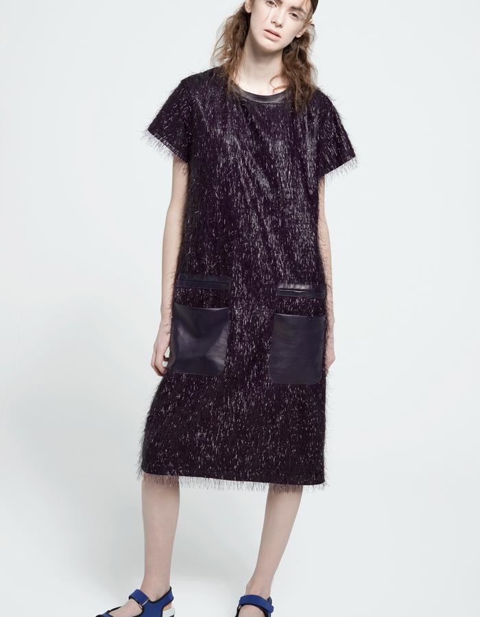 cellophane fringe dress