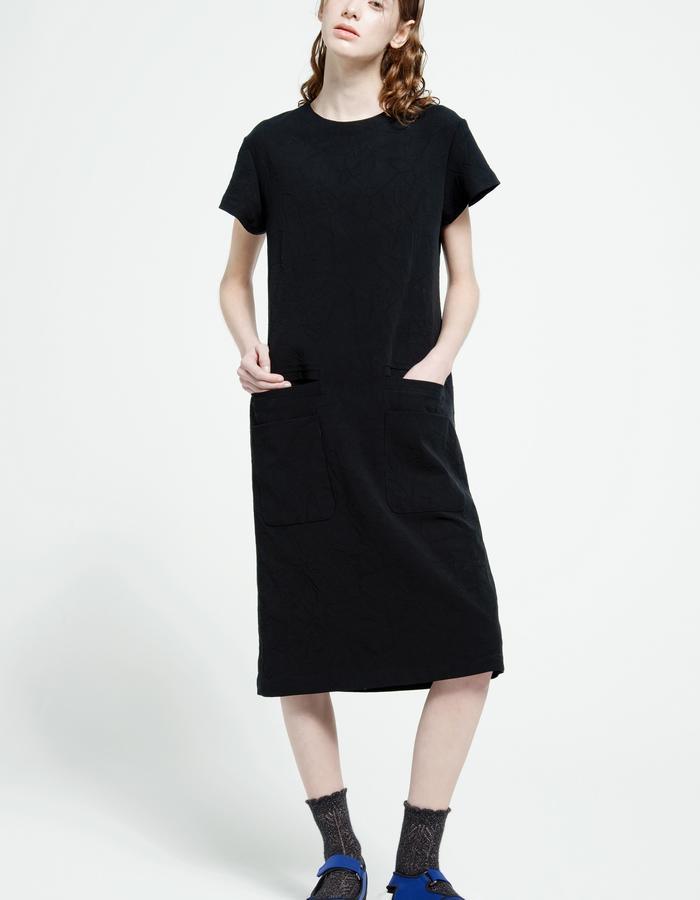 textured denim dress