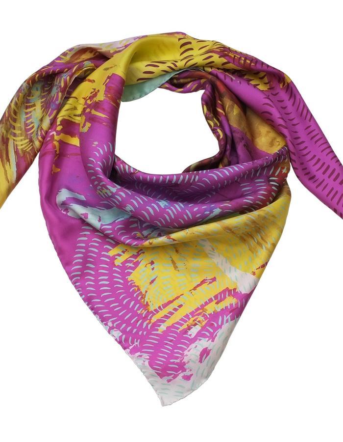 Besakih Sunrise scarf by Liz Nehdi