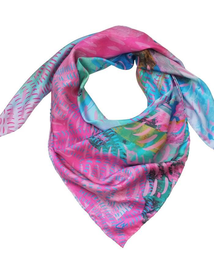 Meandering Thames scarf by Liz Nehdi