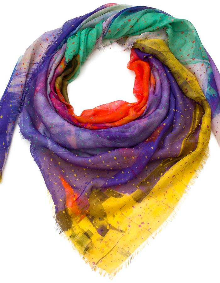 Saint Remy scarf by Liz Nehdi