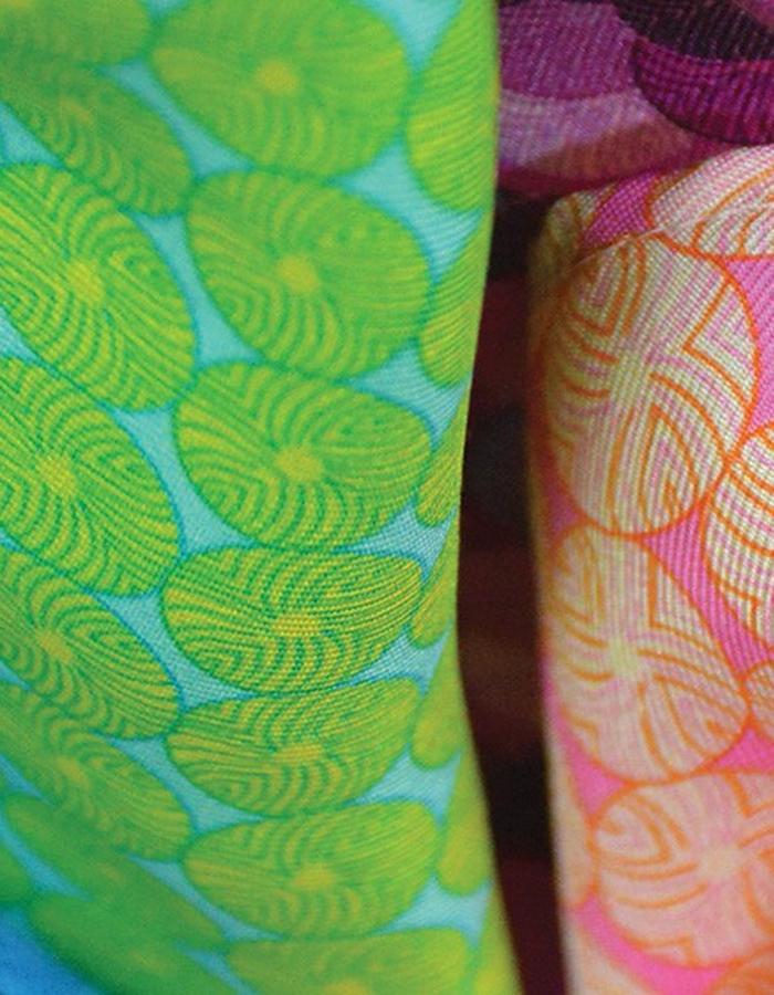 Four pocket squares by Liz Nehdi