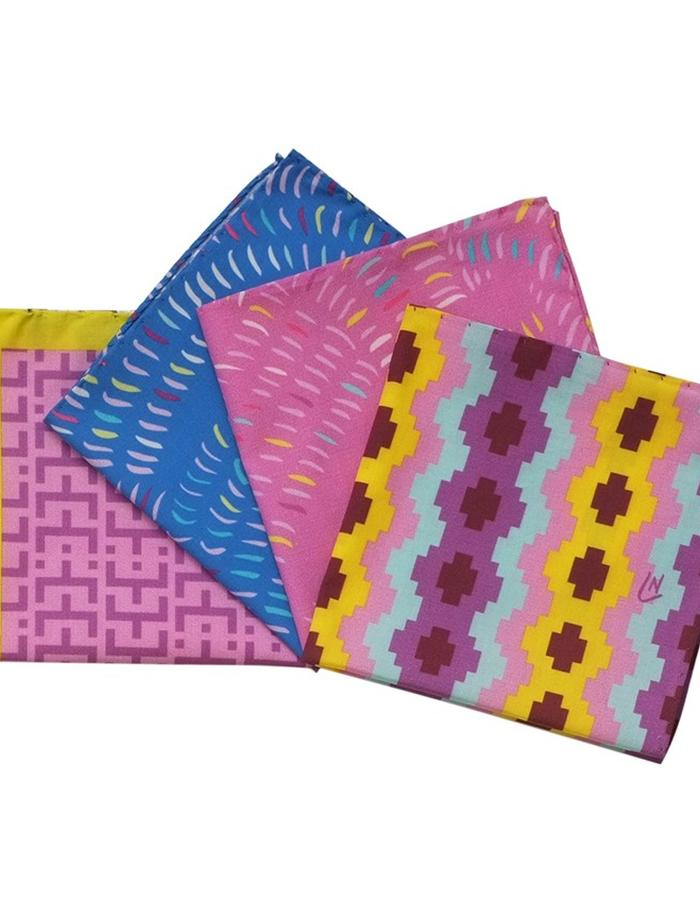 Set of 4 handkerchiefs by Liz Nehdi