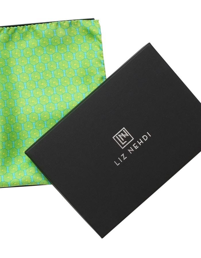 Straight Flush pocket square by Liz Nehdi